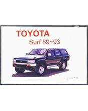 Toyota Surf 1989 - 1993 Owners Manual