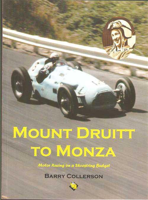 Mount Druitt To Monza : Motor Racing on a Shoestring Budget - Front Cover