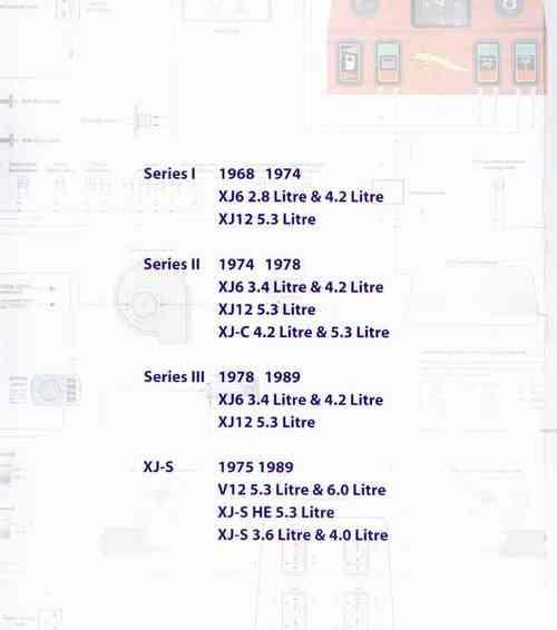 Jaguar XJ Series 1968 - 1989 Wiring Diagrams XJ6 / XJ12 / XJ-C / XJ on
