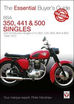BSA 350, 441 & 500 Singles 1958 - 1973 : The Essential Buyers Guide - Front Cover