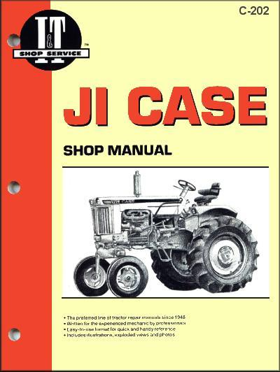JI Case 1953 - 1973 Farm Tractor Owners Service & Repair Manual - Front Cover