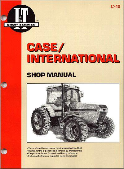 Case International 1987 - 1993 Farm Tractor Owners Service & Repair Manual - Front Cover