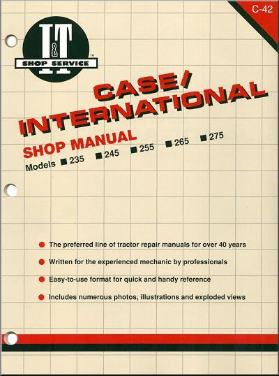 Case International 1986 - 1991 Farm Tractor Owners Service & Repair Manual - Front Cover
