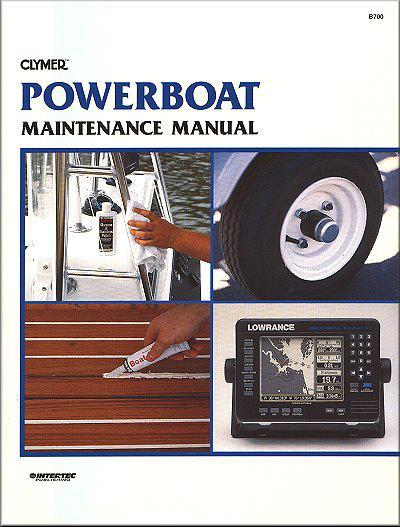 Power Boat Maintenance Manual : Clymer Owners Marine Service & Repair Manual - Front Cover