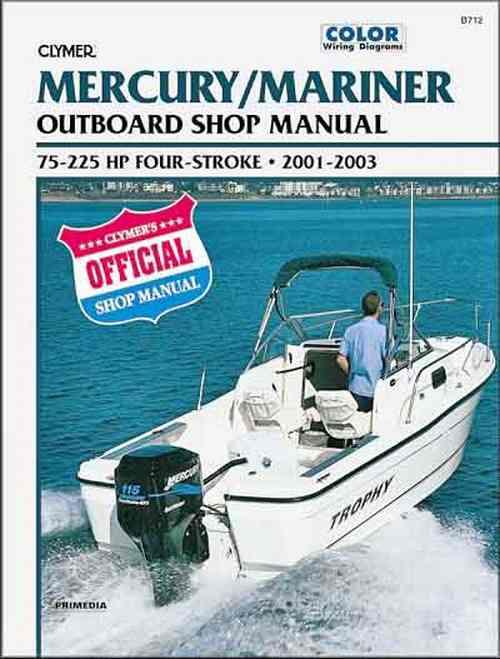 Mercury / Mariner 75 - 225 HP 4-Stroke Outboards 2001 - 2003