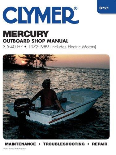 Mercury 3.5 - 40 HP Outboards (Includes Electric Motors) 1972 - 1989 - Front Cover