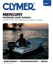 Mercury 3.5 - 40 HP Outboards (Includes Electric Motors) 1972 - 1989