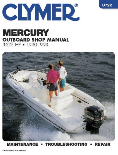 Mercury 3 - 275 HP Outboards 1990 - 1993 - Front Cover