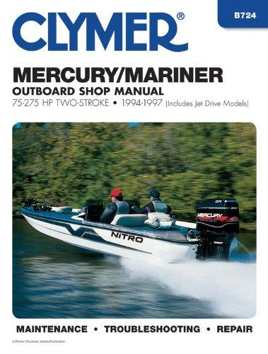 Mercury / Mariner 75 - 275 HP Outboards 1994 - 1997 (Includes Jet Drive Models) - Front Cover
