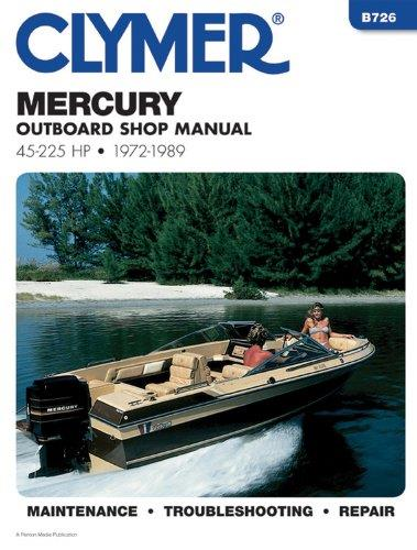 Mercury 45 - 225 HP Outboards 1972 - 1989 - Front Cover