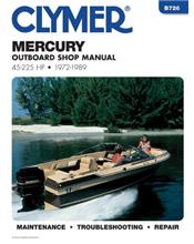 Mercury 45 - 225 HP Outboards 1972 - 1989