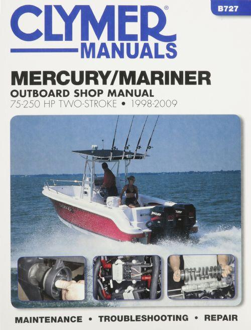 Mercury / Mariner 75 - 250 HP Two-Stroke Outboards 1998 - 2009 - Front Cover