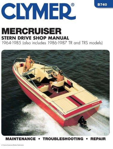 Mercruiser Stern Drives 1964 - 1985 Clymer Owners Marine Service & Repair Manual - Front Cover