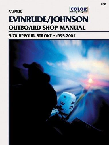 Evinrude Johnson 5-70 HP 4-Stroke Outboards 1995 - 2001 - Front Cover