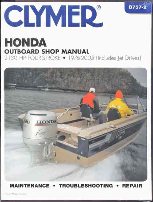 Honda 2-130 HP Four-Stroke Outboards (Includes Jet-Drives) 1976 - 2005 - Front Cover