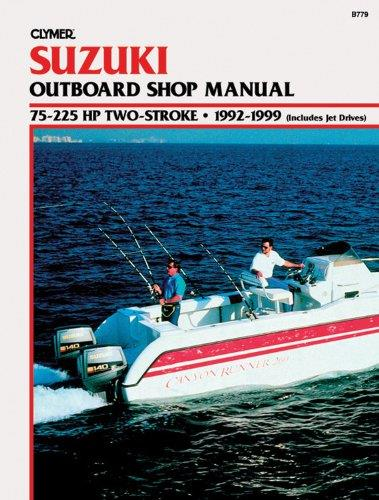 Suzuki 75 - 225 HP 2-Stroke Outboards (Includes Jet Drives) 1992 - 1999 - Front Cover