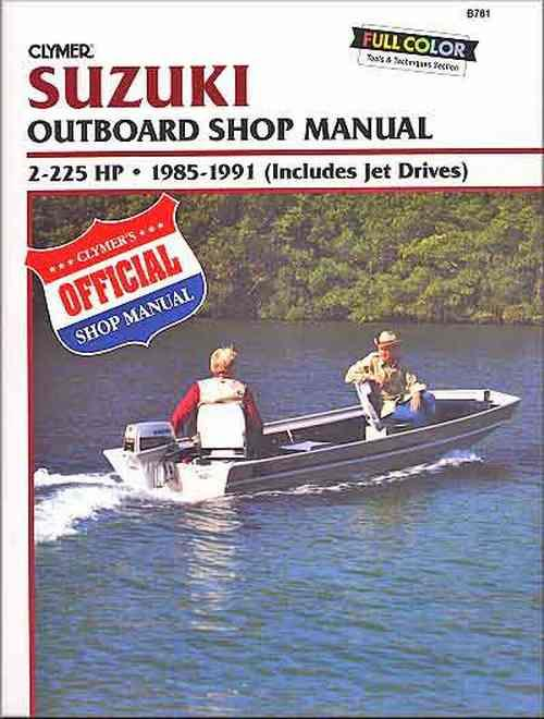 Suzuki 2-225 HP Outboards (Includes Jet Drives) 1985 - 1991 - Front Cover