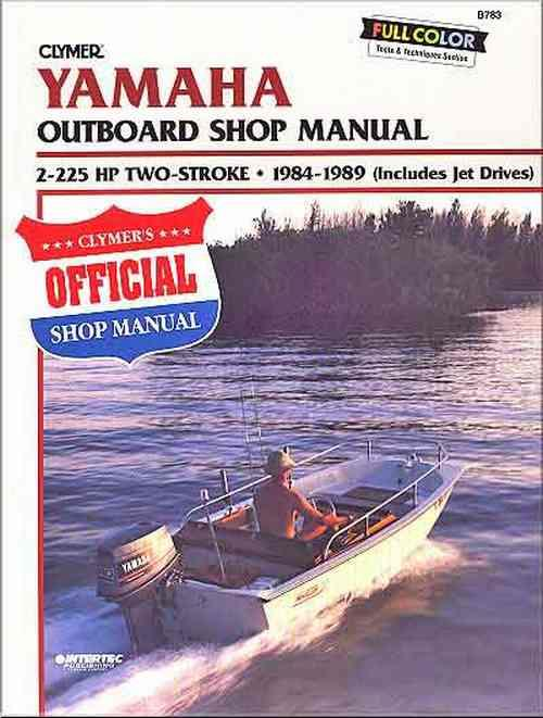Yamaha 2-225 HP Two-Stroke Outboards and Jet Drives 1984 - 1989 - Front Cover