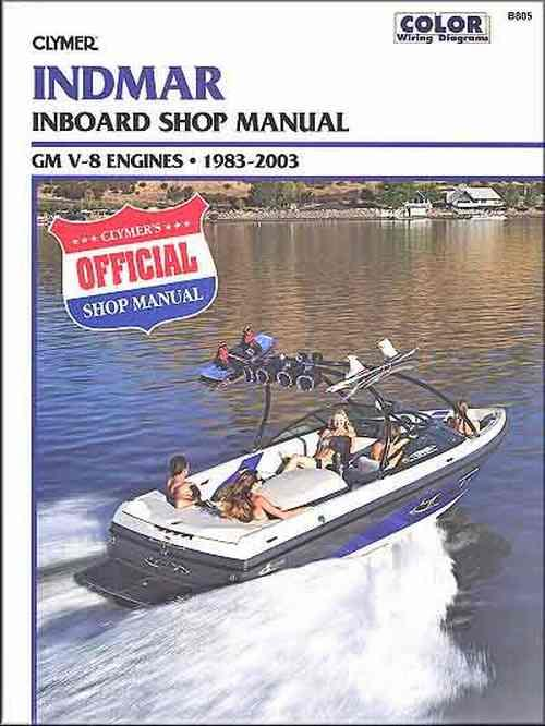 Indmar GM V-8 Inboards 1983-2003 Clymer Owners Marine Service & Repair Manual - Front Cover