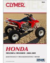 Honda TRX450R & TRX450ER ATV 2004 - 2009 Clymer Owners Service & Repair Manual