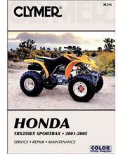 Honda TRX250EX Sportrax ATV 2001 - 2005 Clymer Owners Service & Repair Manual