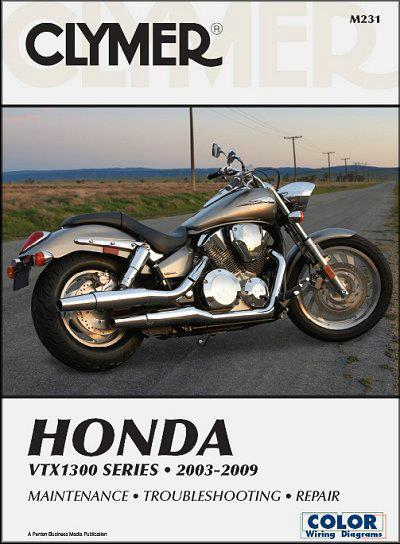 Honda VTX1300 Series 2003 - 2009 Clymer Owners Service & Repair Manual