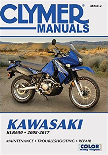 Kawasaki KLR650 2008 - 2017 Clymer Owners Service & Repair Manual - Front Cover