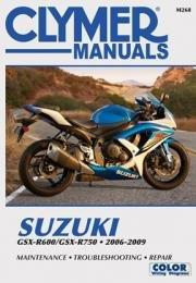 Suzuki GSX-R600/GSX-R750 2006 - 2009 Clymer Owners Service & Repair Manual - Front Cover
