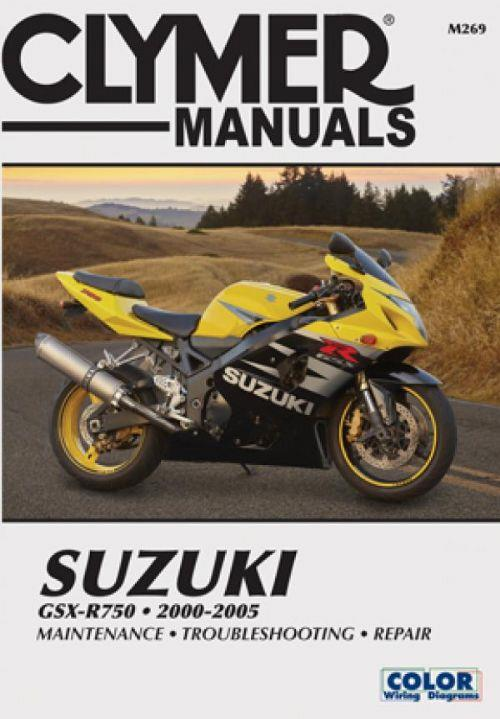 Suzuki GSX-R750 2000 - 2005 Clymer Owners Service & Repair Manual - Front Cover