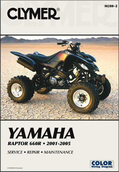 Yamaha Raptor 660R 2001 - 2005 Clymer Owners Service & Repair Manual - Front Cover