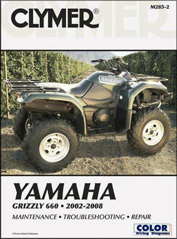 Yamaha Grizzly 660 2002 - 2008 Clymer Owners Service & Repair Manual - Front Cover