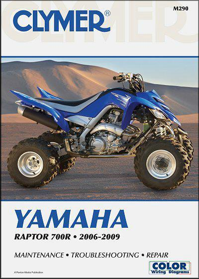 Yamaha Raptor 700R 2006 - 2009 Clymer Owners Service & Repair Manual - Front Cover