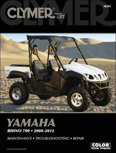 Yamaha Rhino 700 2008 - 2012 Clymer Owners Service & Repair Manual - Front Cover