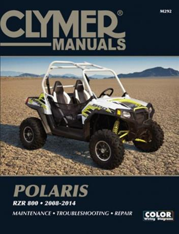 Polaris RZR 800 2008 - 2014 Clymer Owners Service & Repair Manual - Front Cover
