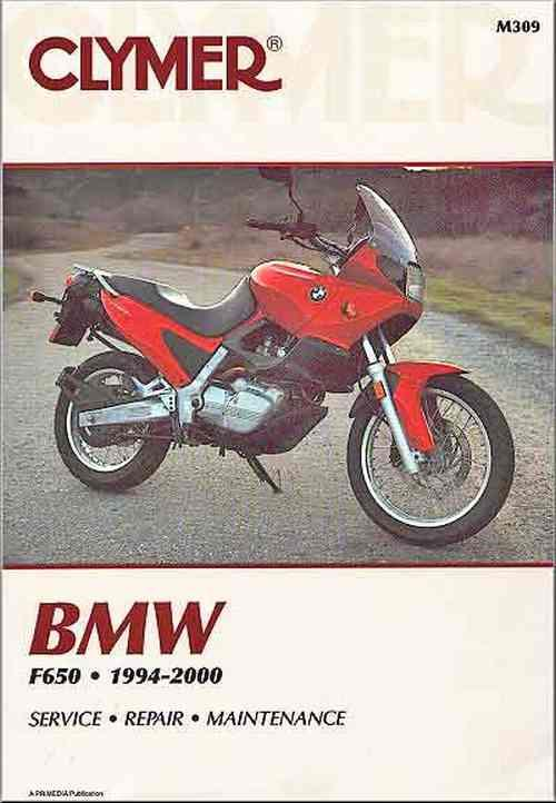 BMW F650 Funduro, Strada 1994 - 2000 Clymer Owners Service & Repair Manual - Front Cover