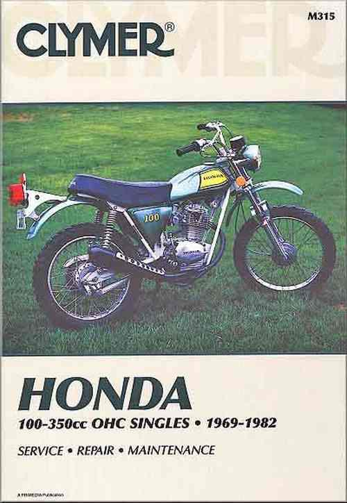 Honda 100cc - 350cc OHC Singles 1969-1982 Clymer Owners Service & Repair Manual - Front Cover