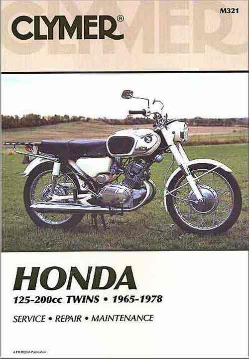 Honda 125cc - 200cc Twins 1965 - 1978 Clymer Owners Service & Repair Manual