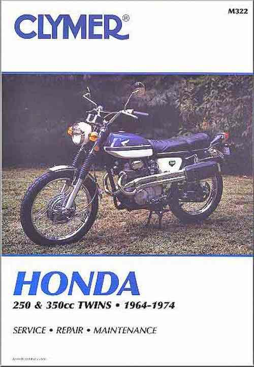 Honda 250cc - 350cc Twins 1964 - 1974 Clymer Owners Service & Repair Manual - Front Cover