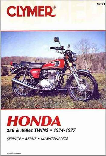 Honda 250cc - 360cc Twins 1974 - 1977 Clymer Owners Service & Repair Manual - Front Cover