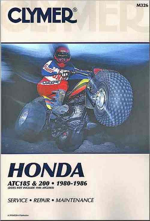 Honda ATC185, ATC200 1980 - 1986 Clymer Owners Service & Repair Manual - Front Cover