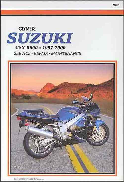 Suzuki GSX-R600 1997 - 2000 Clymer Owners Service & Repair Manual - Front Cover