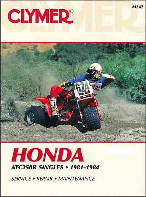 Honda ATC250R Single 1981 - 1984 Clymer Owners Service & Repair Manual - Front Cover