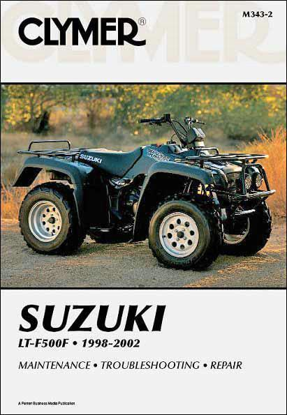 Suzuki LT-F500F Quadrunner 500 1998 - 2002 Clymer Owners Service & Repair Manual