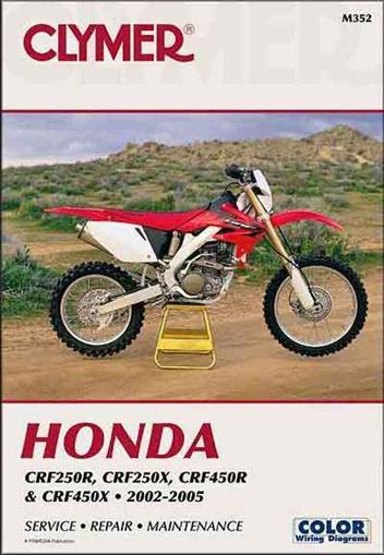 Honda CRF250R, CRF250X, CRF450R, CRF450X 2002 - 2005