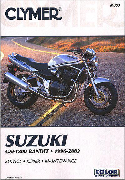 Suzuki GSF1200 Bandit 1200 1996 - 2003 Clymer Owners Service & Repair Manual