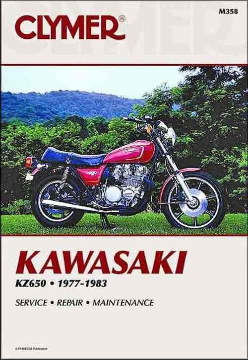 Kawasaki KZ650 1977 - 1983 Clymer Owners Service & Repair Manual - Front Cover