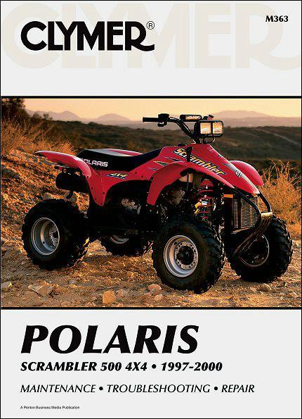 Polaris Scrambler 500 4X4 ATV 1997 - 2000 Clymer Owners Service & Repair Manual - Front Cover