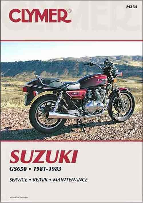 Suzuki GS650 Four 1981 - 1983 Clymer Owners Service & Repair Manual - Front Cover