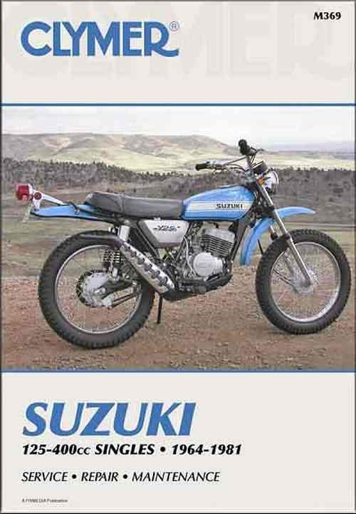 Suzuki 125cc - 400cc Singles 1964 - 1981 Clymer Owners Service & Repair Manual - Front Cover