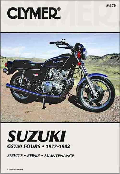 Suzuki GS750 Fours 1977 - 1982 Clymer Owners Service & Repair Manual - Front Cover